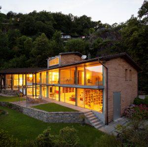 Landscape with alight villa